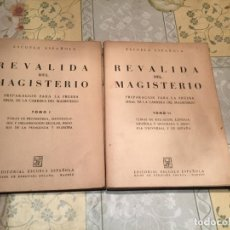 Libros de segunda mano: REVALIDA DEL MAGISTERIO, PREPARACIÓN PARA LA PRUEBA FINAL DE LA CARRERA DE MAGISTERIO 2 TOMOS. Lote 158462238