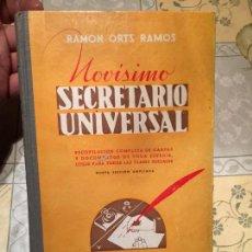Libros de segunda mano: ANTIGUO LIBRO ESCOLAR NOVISIMO SECRETARIADO UNIVERSAL POR RAMÓN ORTS RAMOS AÑO 1940. Lote 158462666