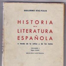 Libros de segunda mano: HISTORIA DE LA LITERATURA UNIVERSAL A TRAVÉS DE LA CRÍTICA Y DE LOS TEXTOS. VOLUM. I. BARCELONA 1945. Lote 158755530