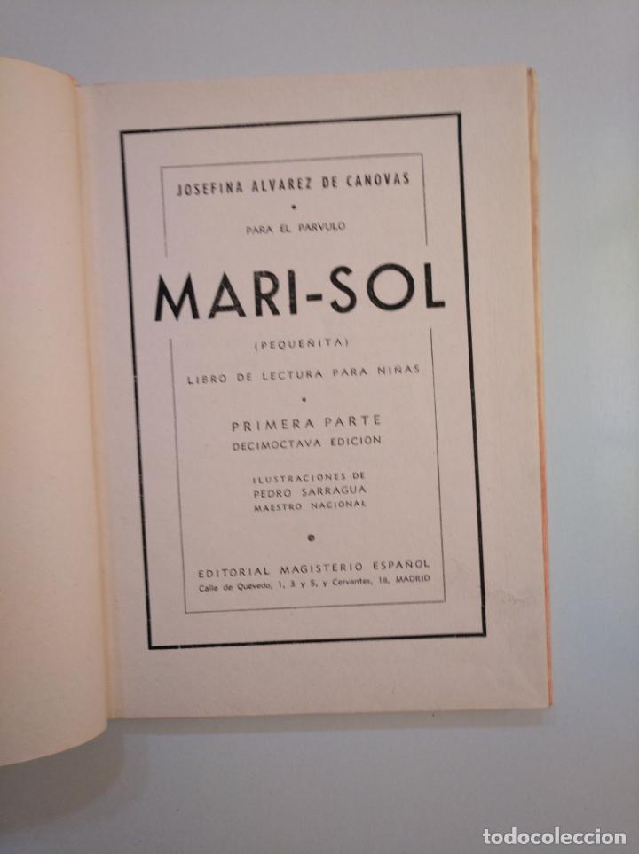 Libros de segunda mano: MARISOL. PEQUEÑITA. JOSEFINA ÁLVAREZ DE CÁNOVAS. 1944. TDK377A - Foto 3 - 159113118