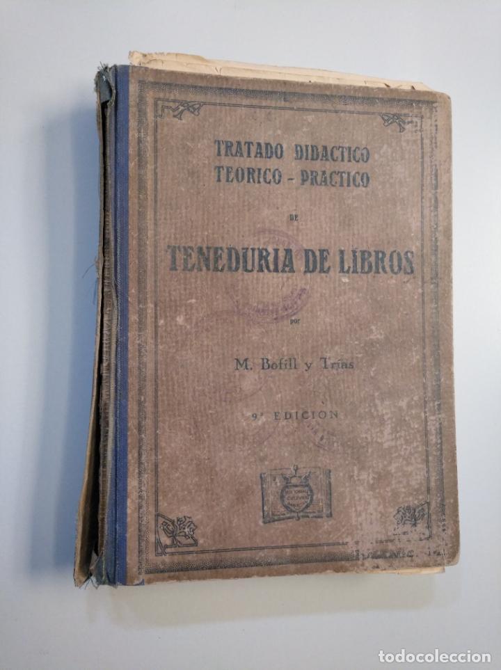 Libros de segunda mano: TRATADO DIDÁCTICO TEÓRICO. PRÁCTICO DE TENEDURÍA DE LIBROS. M. BOFILL Y TRÍAS. 1942. TDK380 - Foto 6 - 159185522