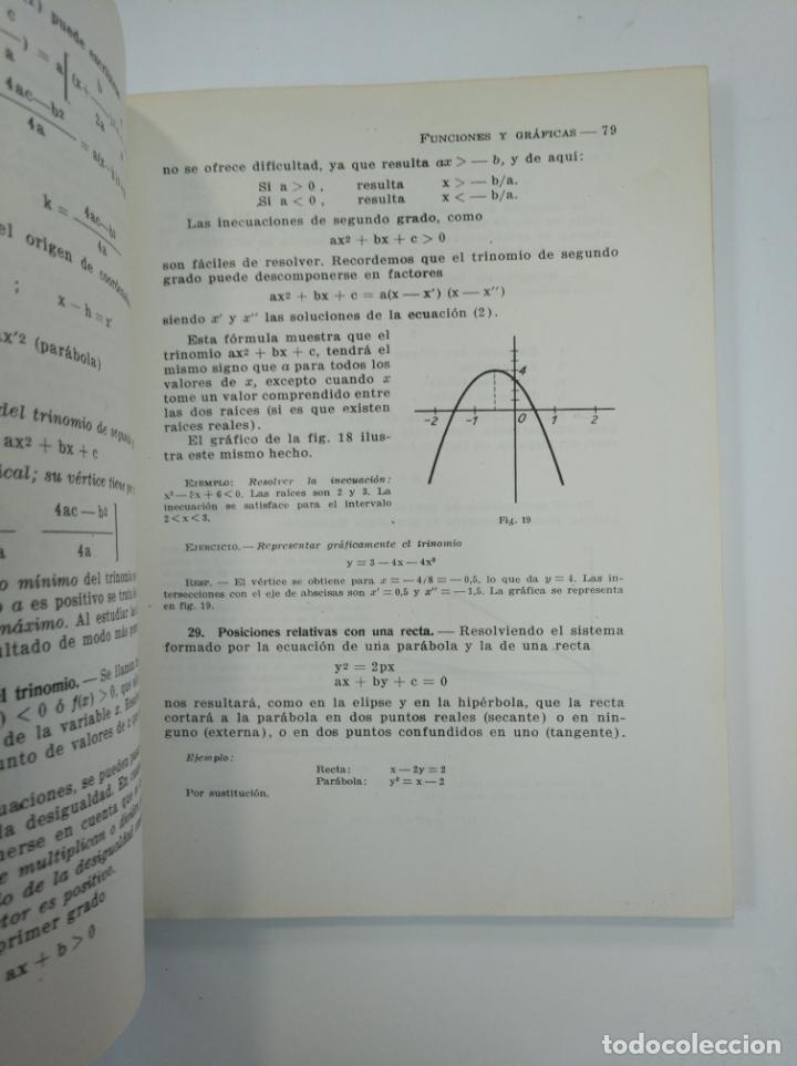 Libros de segunda mano: FUNCIONES Y GRÁFICAS. SEXTO CURSO DE MATEMÁTICAS. RODRIGUEZ VIDAL. EDITORIAL TEIDE 1964. TDK382 - Foto 2 - 159484882