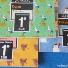 Libros de segunda mano: 1º EGB ( LOS TRES TRIMESTRES ). CORZO . EQUIPO AZOR . ANAYA 1987. Lote 159845202