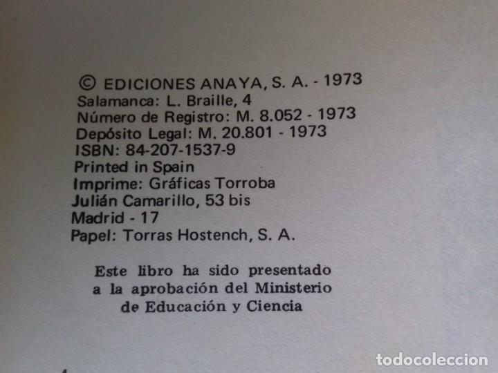 Libros de segunda mano: ANTOLOGIA HISTORICO LITERARIA ANAYA / MUNDO NUEVO 7 EGB/ 1973/ / CONSO 26 - Foto 4 - 160434062