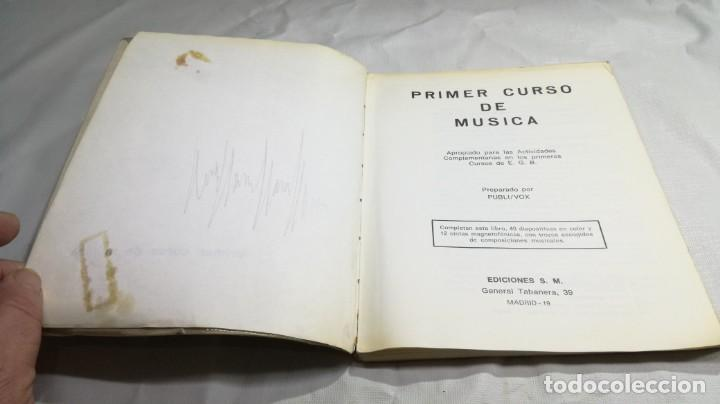 Libros de segunda mano: PRIMER CURSO DE MUSICA SM/ 1976/ / / D101 - Foto 4 - 160434078