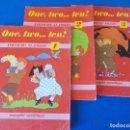 Libros de segunda mano: ONE ; TWO ; ::: THREE . INICIACION AL INGLES ( NIVELES 1 , 2 Y 3 ) . MANGOLD / SANTILLANA. Lote 160641906