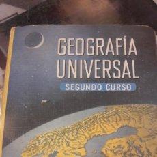 Libros de segunda mano: 1965 GEOGRÁFIA UNIVERSAL SEGUNDO CURSO EDITORIAL LUIS VIVES. Lote 161392402