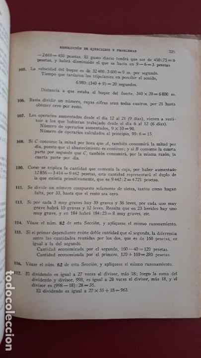Libros de segunda mano: EJERCICIOS Y PROBLEMAS DE ARITMETICA. M GARCIA ARDURA. 1955 - Foto 2 - 161802402
