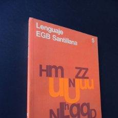 Libros de segunda mano: LENGUAJE 5º EGB / UNIDADES DIDACTICAS - EJERCICIOS / ED. SANTILLANA 1980 / SIN USAR. Lote 229135930