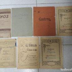 Libros de segunda mano: LOTE 7 CUADERNOS ESCUELA USADOS. AÑOS 40. Lote 162772978