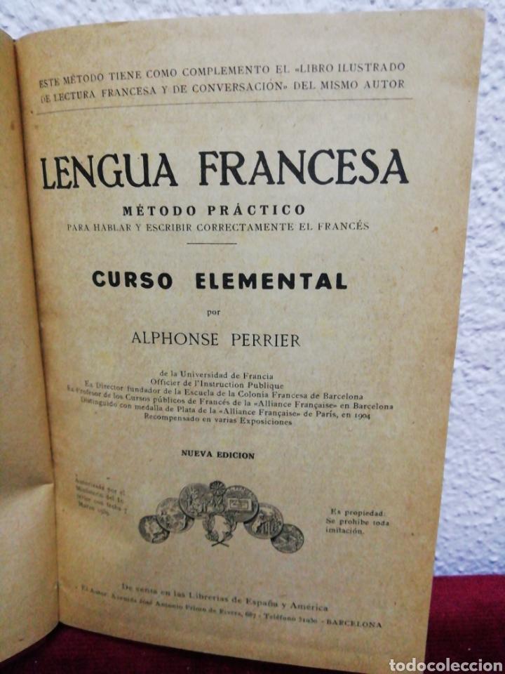 Libros de segunda mano: Lengua Francesa. Curso elemental por Alphonse Perrier. Año 1939 - Foto 2 - 162919456