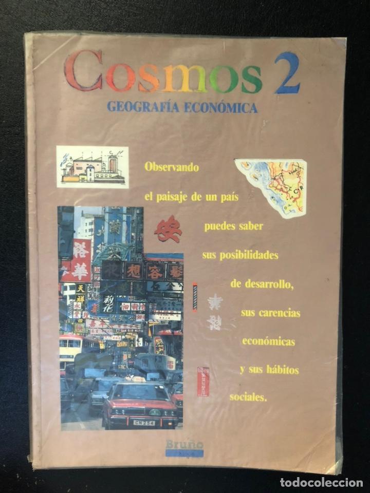 LIBRO COSMOS DE GEOGRAFÍA ECONÓMICA SEGUNDO DE BUP. 1989 (Libros de Segunda Mano - Libros de Texto )