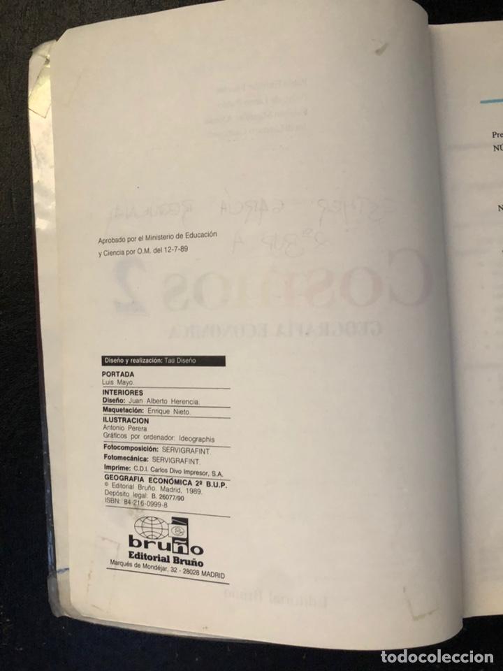 Libros de segunda mano: Libro Cosmos de geografía económica Segundo de BUP. 1989 - Foto 7 - 163564496