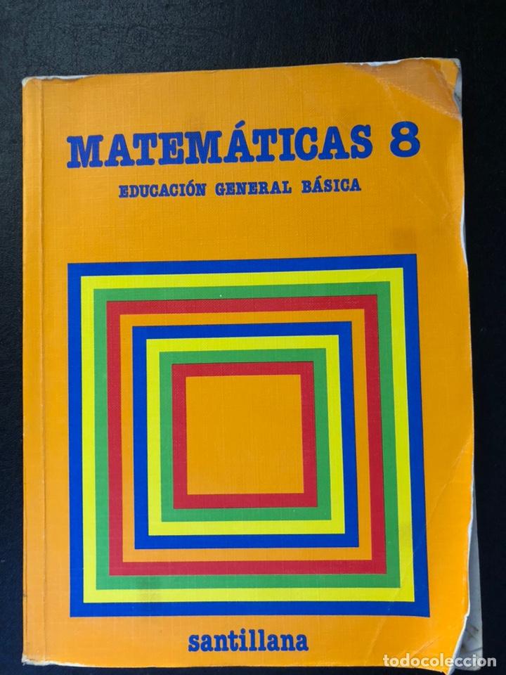 LIBRO MATEMÁTICAS OCTAVO DE EGB. 1984 (Libros de Segunda Mano - Libros de Texto )