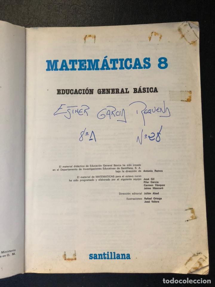 Libros de segunda mano: LIBRO MATEMÁTICAS OCTAVO DE EGB. 1984 - Foto 4 - 163565038