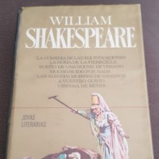 Libros de segunda mano: WILLIAM SHAKESPEARE 1° EDICION 1972 EDITORIAL BRUGUERA. Lote 164221446