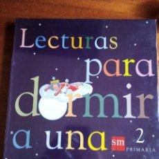 Libros de segunda mano: LECTURAS PARA DORMIR A UNA PRINCESA. 2º PRIMARIA S.M. PLASTIFICADO. Lote 164734822