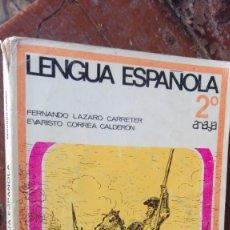 Libros de segunda mano: LENGUA ESPAÑOLA 2 CURSO ANAYA LÁZARO - CORREA. Lote 164836106