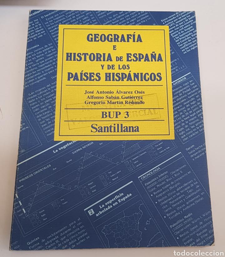 GEOGRAFIA E HISTORIA DE ESPAÑA Y DE LOS PAISES HISPANICOS BUP 3 SANTILLANA - TDK50 (Libros de Segunda Mano - Libros de Texto )