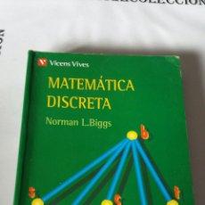 Second hand books - Matemática discreta, Norman L.Biggs, Vicens Vives. - 168558264