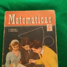 Libros de segunda mano: MATEMÁTICAS. ED. SM 1965. 4 º CURSO. Lote 168576544