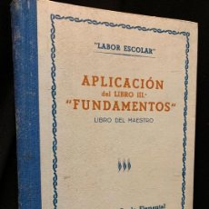 Libros de segunda mano: PRECIOSO LIBRO -DEL MAESTRO- DE ENSEÑANZA ELEMENTAL 8-10 AÑOS, AÑOS 50. 399PAGS, MIDE 21X17CMS. Lote 168848480