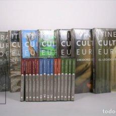 Libros de segunda mano: COLECCIÓN COMPLETA 6 TOMOS + 15 DVD Y GUIA DE CONSULTA- ITINERARIOS CULTURALES EUROPEOS -PRECINTADOS. Lote 168934580