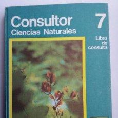 Libros de segunda mano: CONSULTOR CIENCIAS NATURALES 7. SANTILLANA. 1973.. Lote 169004956
