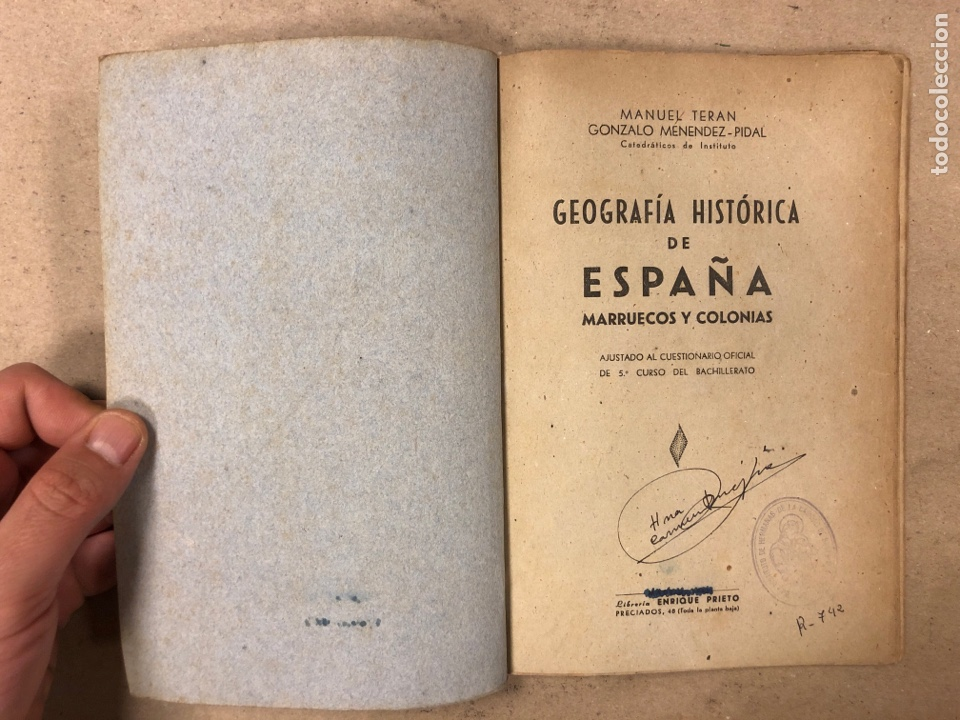 Libros de segunda mano: GEOGRAFÍA HISTÓRICA DE ESPAÑA, MARRUECOS Y COLONIAS. 5º BACHILLERATO. 1941. MANUEL TERAN Y GONZALO M - Foto 2 - 169108580