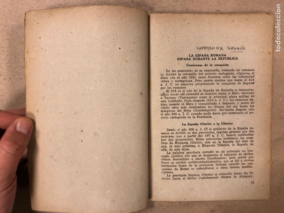 Libros de segunda mano: GEOGRAFÍA HISTÓRICA DE ESPAÑA, MARRUECOS Y COLONIAS. 5º BACHILLERATO. 1941. MANUEL TERAN Y GONZALO M - Foto 3 - 169108580