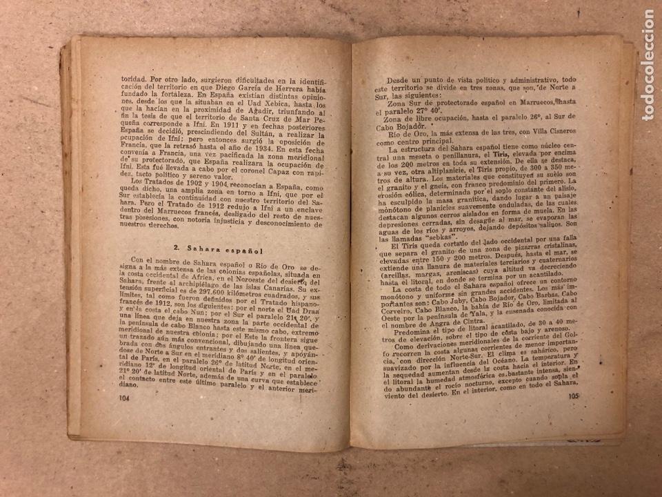 Libros de segunda mano: GEOGRAFÍA HISTÓRICA DE ESPAÑA, MARRUECOS Y COLONIAS. 5º BACHILLERATO. 1941. MANUEL TERAN Y GONZALO M - Foto 7 - 169108580