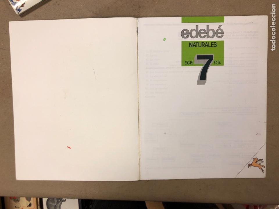 Libros de segunda mano: NATURALES 6º EGB Y 7º EGB. EDEBÉ (1988). 2 LIBROS. - Foto 10 - 169230982
