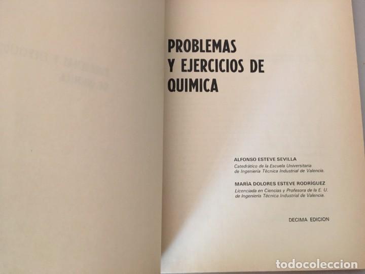 Libros de segunda mano: PROBLEMAS Y EJERCICIOS DE QUIMICA , ECIR , A. ESTEVE SEVILLA , M. D. ESTEVE RODRIGUEZ - Foto 4 - 169287904