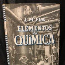 Libros de segunda mano: ELEMENTOS DE QUIMICA, AÑO 1942 MIDE 19X13CMS Y 423PAGS. IMPECABLE. Lote 169288924