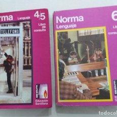 Libros de segunda mano: NORMA LENGUAJE 4/5 Y 6. SANTILLANA. 1972-1974. Lote 170531528