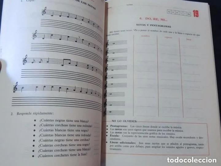 Libros de segunda mano: MUSICA / LIBRO DE TEXTO Y 3 LIBROS FICHAS DE TRABAJO / CURSOS 6 - 7 - 8 E.G.B. / ED. BRUÑO /SIN USAR - Foto 4 - 171055604