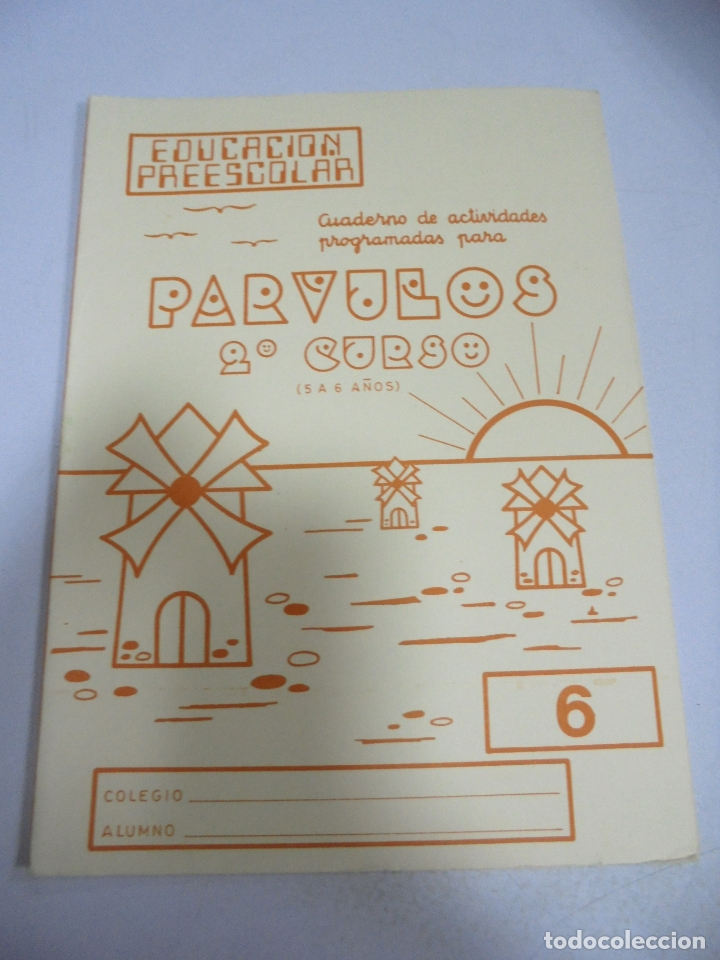 CUADERNO. PARVULOS 2º CURSO. 5 A 6 AÑOS. EDUCACION PREESCOLAR (Libros de Segunda Mano - Libros de Texto )