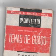 Libros de segunda mano: TEMAS DE EXÁMENES DE GRADO ELEMENTAL DE BACHILLERATO.. Lote 171420827