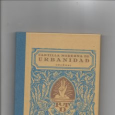 Libros de segunda mano: CARTILLA MODERNA DE URBANIDAD (NIÑOS).. Lote 171420867