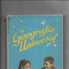 Libros de segunda mano: GEOGRAFÍA UNIVERSAL.ANTONIO M. ZUBIA, S.M.. Lote 171421132