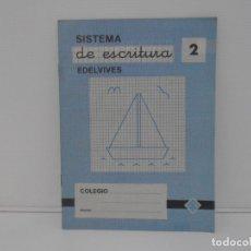 Libros de segunda mano: CUADERNILLO SISTEMA DE ESCRITURA EDELVIVES Nº 2. Lote 171703290