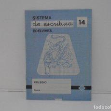 Libros de segunda mano: CUADERNILLO SISTEMA DE ESCRITURA EDELVIVES Nº 14. Lote 171703362