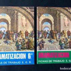 Libros de segunda mano: 2 LIBROS DE TEXTO / DRAMATIZACION / FICHAS DE TRABAJO / 6º - 7º - EGB / BRUÑO. Lote 171758644