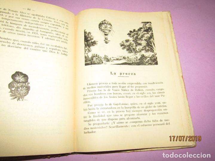 Libros de segunda mano: Antiguo Libro de Escuela HÉROES de Antonio J. Onieva y Editorial Hijos de Santiago Rodriguez - 1959 - Foto 3 - 172009498