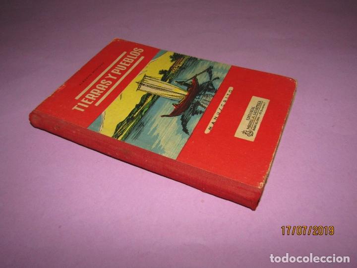 Libros de segunda mano: Antiguo Libro de Escuela TIERRAS Y PUEBLOS de Alberto Montana y Editorial Miguel A. Salvatella -1958 - Foto 4 - 172009830