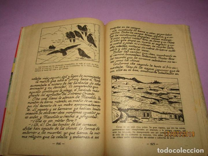Libros de segunda mano: Antiguo Libro de Escuela TIERRAS Y PUEBLOS de Alberto Montana y Editorial Miguel A. Salvatella -1958 - Foto 7 - 172009830
