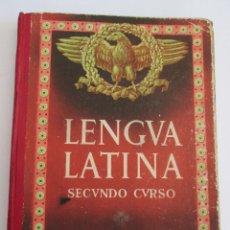 Libros de segunda mano: LENGUA LATINA - SEGUNDO CURSO - 1954 - EDITORIAL LUIS VIVES - 263 PAGINAS - CON PROGRAMA. Lote 172388974