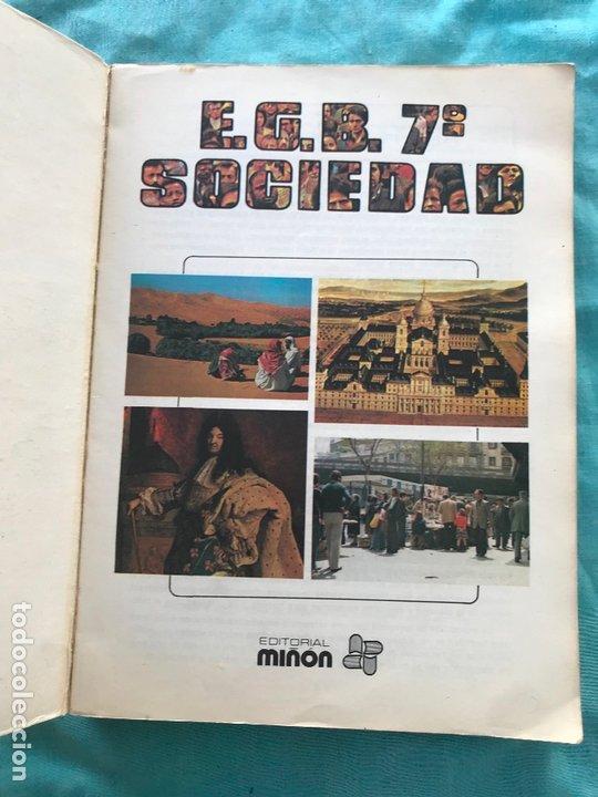 Libros de segunda mano: LIBRO EGB/ sociedad 7ºALVAREZ/MIÑON - Foto 2 - 172582875