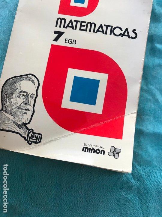 Libros de segunda mano: MATEMÁTICAS 7 CURSO E.G.B./ÁLVAREZ/MIÑON - Foto 2 - 172582975