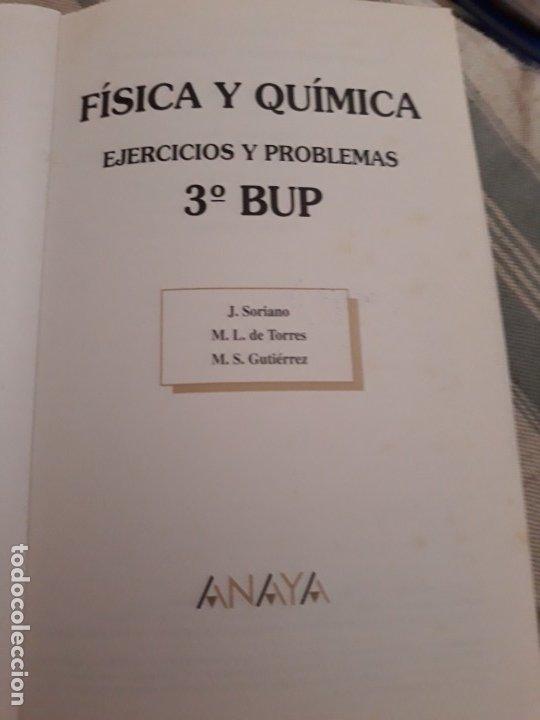 Libros de segunda mano: ejercicios y problemas Fisica y Quimica 3 bachillerato Anaya. - Foto 3 - 172605627